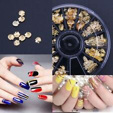3D Metal Nail Art Glitter Paillette Sea Shell DIY Tips Wheel Manicure Decor for