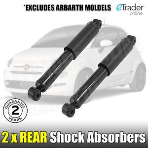 Fiat 500 Rear Shock Absorbers X 2 Shockers Absorber PAIR 2008 Onwards NEW & 500C