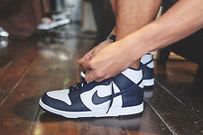 "NIKE DUNK RETRO QS Boots Trainers Hi Top ""Be True to School""  UK 9 (EUR 44) Navy"