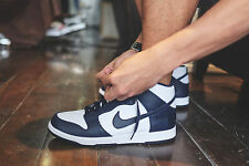 "Nike Dunk Retro Qs Botas Zapatillas Hi Tops ""ser fiel a la escuela"" UK 11 (UE 46) Azul Marino"