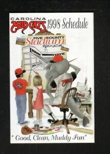 Carolina Mudcats--1998 Pocket Schedule--Time Warner Cable--Pirates Affiliate