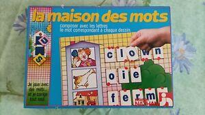 jeux société LA MAISON DES MOTS 6/9ans NATHAN complet