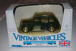 ERTL DIECAST CARS- VINTAGE VEHICLES 1958 LONDON TAXI  1/43 SCALE
