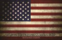 "US Flag Design Gun Cleaning Mat 11x17"" 2nd Amendment Vintage with Zippered Pouch"