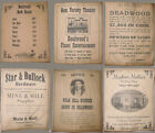 6 Old West Deadwood-Themed Posters, Gem Theater, Robbery, Bath House, wanted etc
