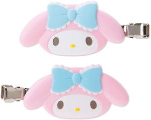 JAPAN SANRIO My Melody Rabbit Hair Bang Clip Pink Wht 2 pcs Accessory Decoration