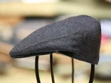 Yorkshire hand tailored wool tweed flat cap Ribble Blue MADE IN BRITAIN hat