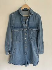 Zara denim playsuit. Xs