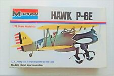 Vintage Monogram Hawk P-6E Model Aircraft Kit 1/72 Scale (Unopened)