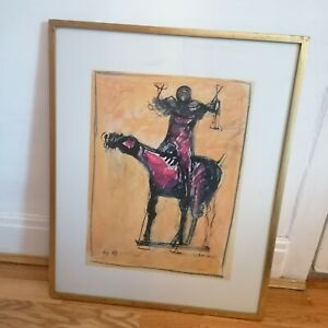 Marino Marini Print Horse and Rider Framed Limited Edition