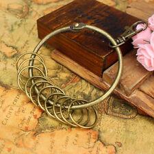 Large Retro Vintage Alloy Key Rings Bronze Round Keychain Circular Holder Gift
