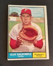 ORIGINAL1961 TOPPS PHILADELPHIA PHILLIES BASEBALL CARD #299 CLAY DALRYMPLE EX.MT