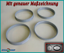 4x ZENTRIERRINGE 76,0 - 74,1 BMW NEU