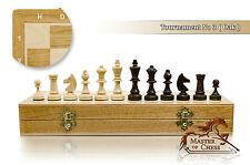 "Great TOURNAMENT No.3 OAK 35cm / 13.8"" Wooden Chess Set Staunton Figures"