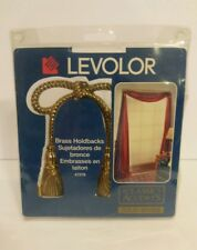 2 Vintage LEVOLOR Brass Bows Holdbacks Solid Brass Classic Accents New 47278