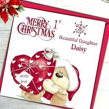 Personalised 1st Christmas Card Grand Son Daughter Nephew Niece