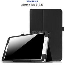 """COVER CUSTODIA per SAMSUNG Galaxy Tab E 9.6"""" T560 T561 Pelle Nero SUPPORTO SMART"""