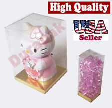 """24 PCS 7x7x9"""" PVC Plastic Boxes w/ Golden Card Bottom Gift Display Party Favor"""