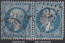 FRANCE EMPIRE PAIRE N° 22 AVEC OBLITERATION A VOIR