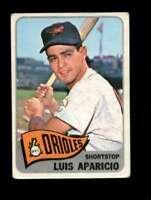 1965 TOPPS #410 LUIS APARICIO GOOD+ ORIOLES HOF *SBA2956