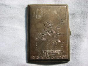 Zigarettenetui Silber China  klein alt Visitenkarten selten