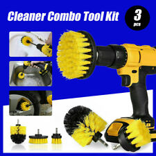 3PCS Grout Power Scrubber Clean Drill Brush Tub Cleaner Combo Tool Kit Yellow