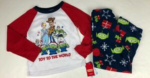 Jammies ForYour Families Toy Story Christmas Fleece Pajamas NWT Toy To The World