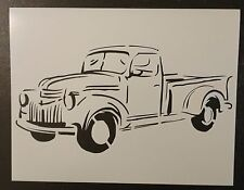 "Old Vintage Truck #1 - 11"" x 8.5"" Custom Stencil FAST FREE SHIPPING"