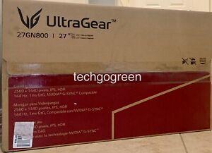 LG 27GN800-B UltraGear QHD IPS 1ms 144Hz HDR Monitor w/ G-SYNC Compatibility NEW
