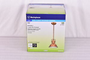 Westinghouse Boswell One Light LED Mini Pendant in Washed Copper Finish