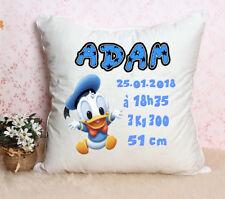 Coussin bébé spécial naissance Duck personnalisé prénom date poids taille