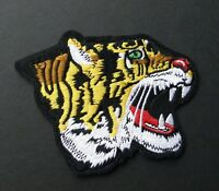 TIGER BIG CAT HEAD EMBROIDERED PATCH 5 INCHES