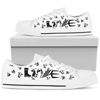 Cow Lovers Women's Low Top Shoes