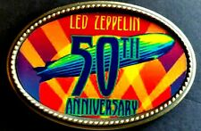 "Led Zeppelin '50Th Anniversary"" Commemorative Epoxy Photo Music Belt Buckle"
