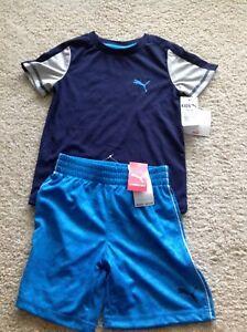 Puma Boys 2Pc Navy/Blue Shorts Set - 4T NWT-Retail $42