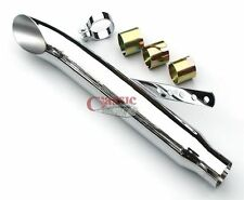 """Universal Turnout 19"""" Motorcycle Exhaust Silencer - 36-45mm INLET"""