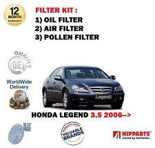 PARA Honda Legend 3.5 V6 KB1 j35ab 2006- > Aire Aceite Pollen 3
