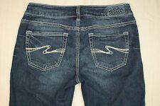Silver Aiko Boot Cut Jeans Women's Size 26 Distressed Dark Wash Denim