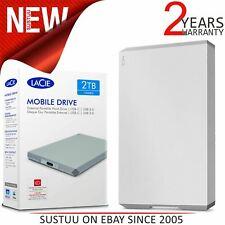 Lacie 2TB Mobile Drive USB 3.0 Type-C Portable External Hard Drive|For PC & Mac