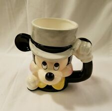 Mickey Mouse Tipping His Top Hat Bow Tie Disney Japan Coffee Mug Ceramic