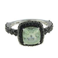 HSN Rarities Carol Brodie Gemstone & Black Spinel Sterling Ring Sz 8