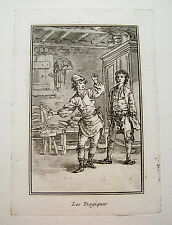 Le Prince, Jean Baptist (1733-1781) Tragik echter  Aquatinta  Kupferstich 1774