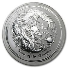 Perth Mint Australia 2012 Lunar Dragon 10 oz .999 Silver Coin