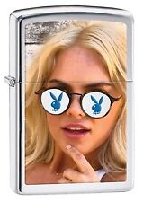 Zippo Windproof Lighter With Playboy Bunny Wearing Sunglasses, 29294, New In Box