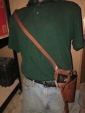 Tanned Leather Shoulder Sling Holster Fits the Colt 45 Model 1911