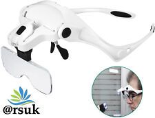 More details for magnifier magnifying glass 3.5x with led light loupe hands reading jewelry