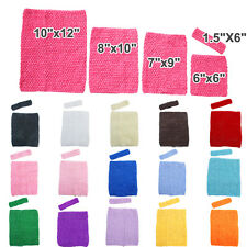 Stretch Crochet Tube Top Headband Hairband Waistband Tutu Supplies -5 Sizes