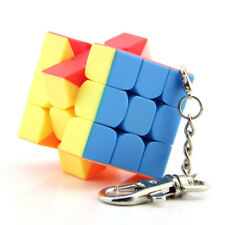 Mini 3x3x3 Magic Speed Cube Lock Keychain Rubik's Cube 35mm Stickerless Twist
