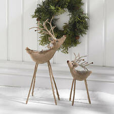 Burlap Reindeer small will add interest to your Christmas season decorations!