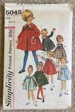 Vintage '60s Simplicity Child's Smock Dress W/ Appliqué Cut Sewing Pattern 5045